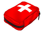 First Aid Kit in a Soft Bag. Medical Equipment
