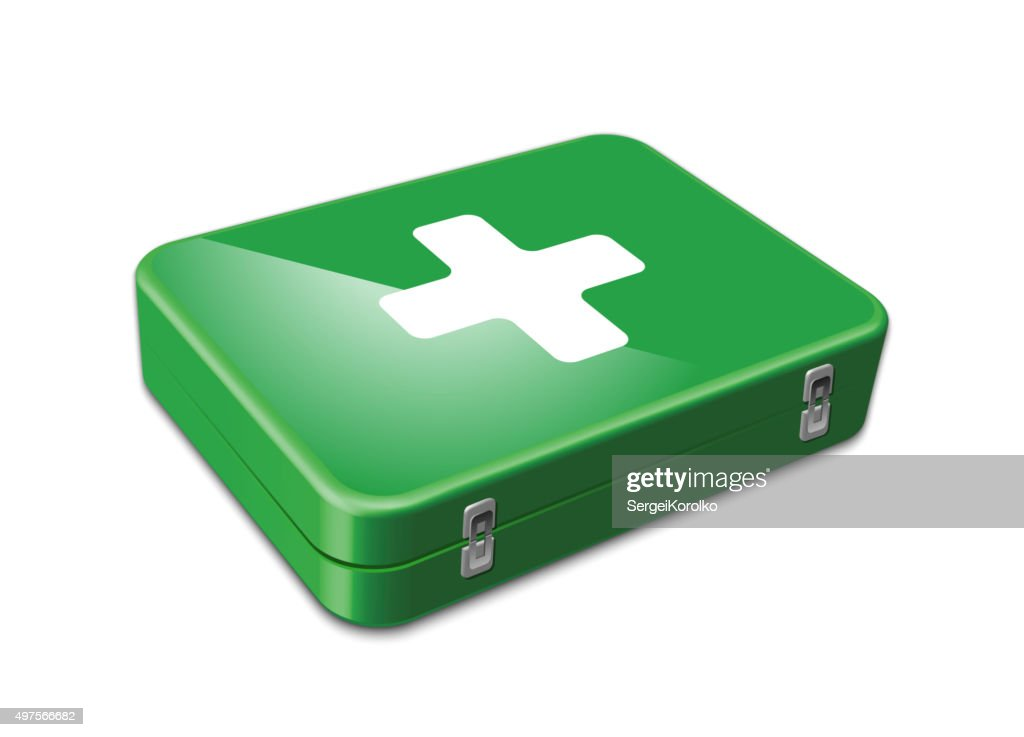 First aid kit. Vector illustration