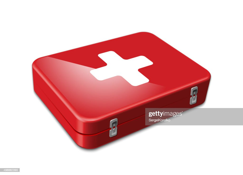 First aid kit. Vector illustration