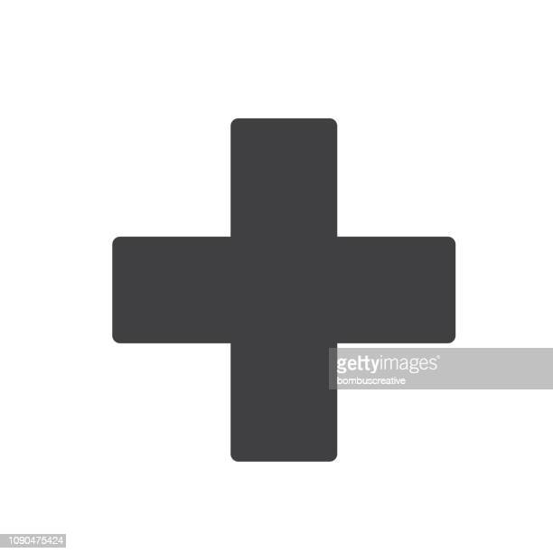 first aid sign icon vector design - all european flags stock illustrations