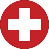 First aid sign icon vector design