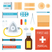 First aid symbols vector illustration.