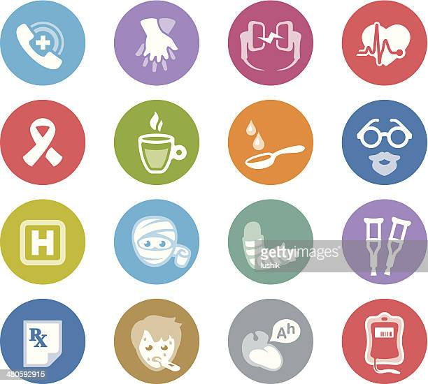 first aid / wheelico icons - broken arm stock illustrations, clip art, cartoons, & icons