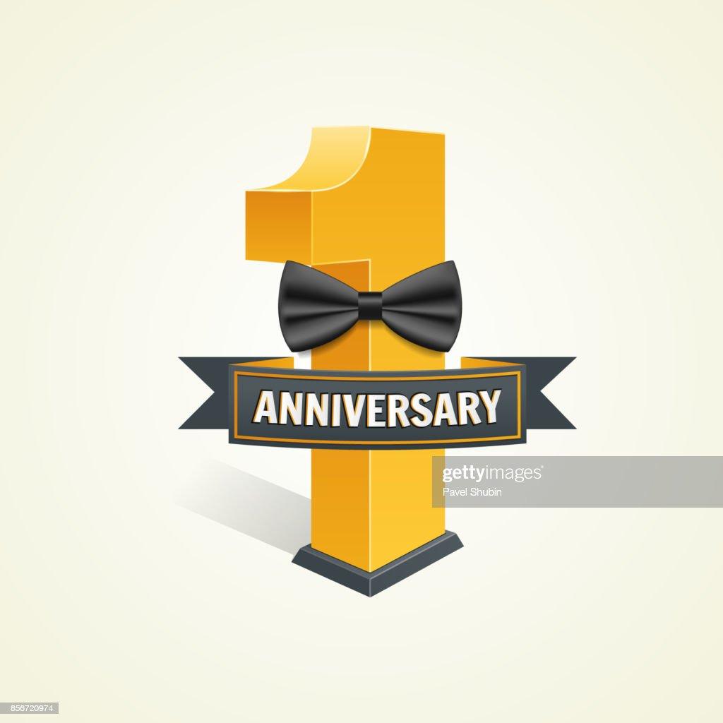 First anniversary celebration background.