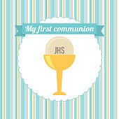 first communion vector illustration 10 eps graphic