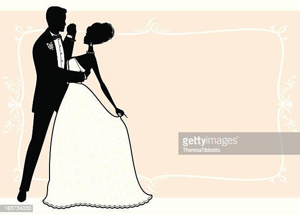 ilustraciones, imágenes clip art, dibujos animados e iconos de stock de primer baile - bailar un vals