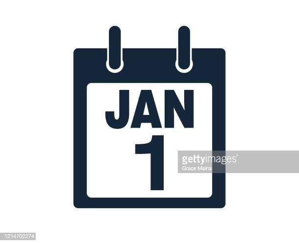 first january calendar icon stock vector illustration - first occurrence stock illustrations