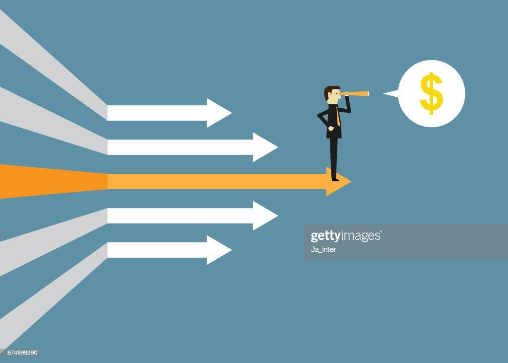 First leadership : stock illustration