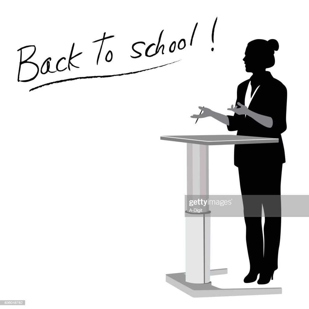 First Lectures School : stock illustration
