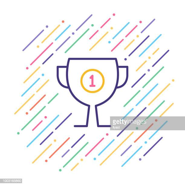 First Place Award Line Icon