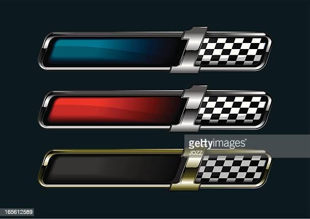 firsta racing banner - chrome stock illustrations, clip art, cartoons, & icons