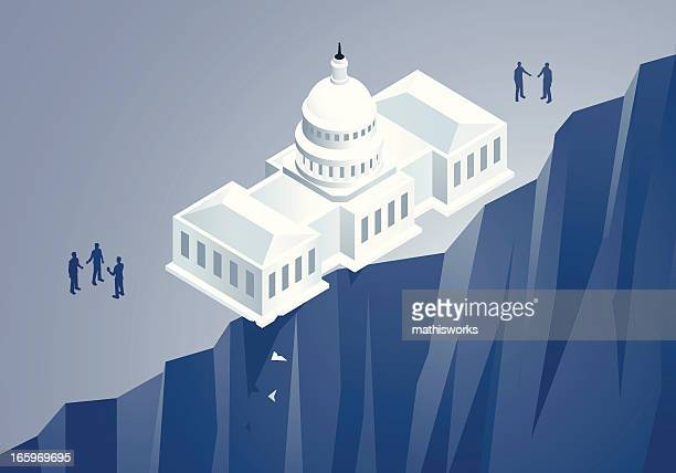 fiscal cliff illustration - mathisworks stock illustrations
