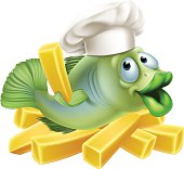 Fish and chips chef