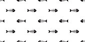 fish bone seamless pattern vector tuna salmon shark dolphin ocean sea tropical scarf isolated repeat wallpaper tile background