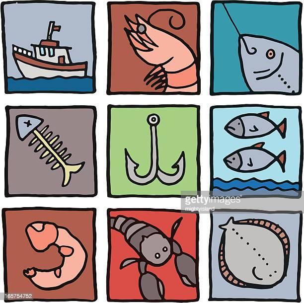 Fish color prints