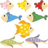 fish colour vector