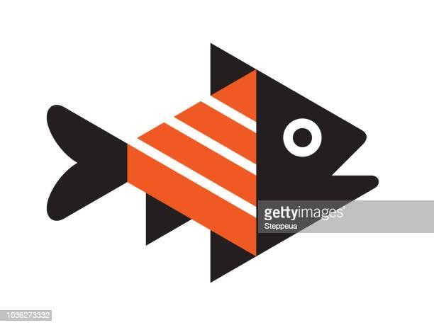 fish icon - fillet stock illustrations, clip art, cartoons, & icons