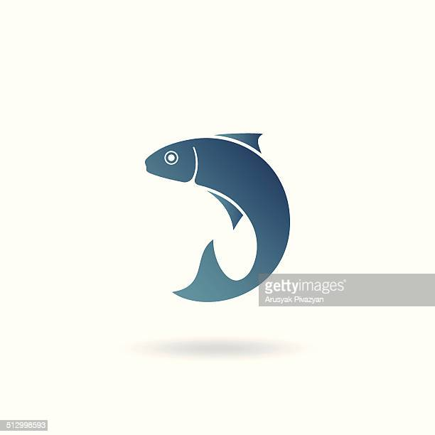 fish icon - fish stock illustrations