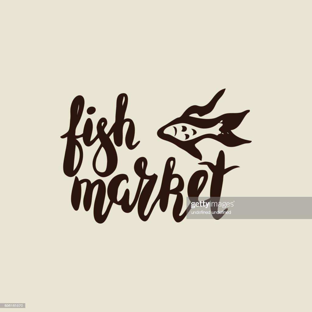 Fish market with fish