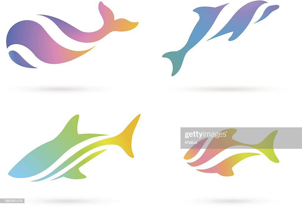 Fish ocean set
