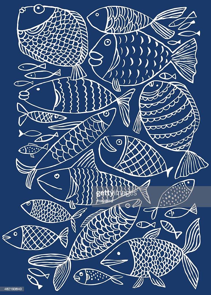 Fish pattern : stock illustration