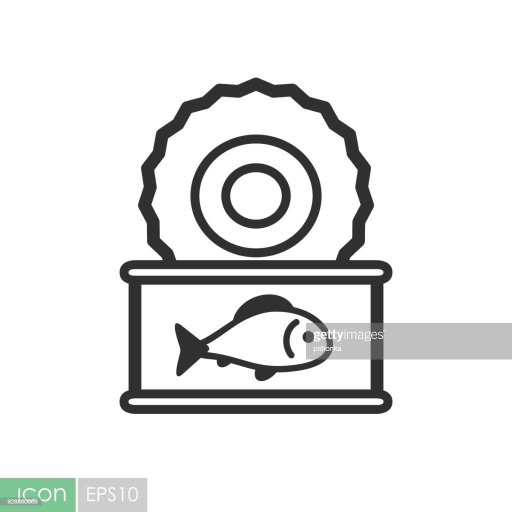 Fish preserves vector icon