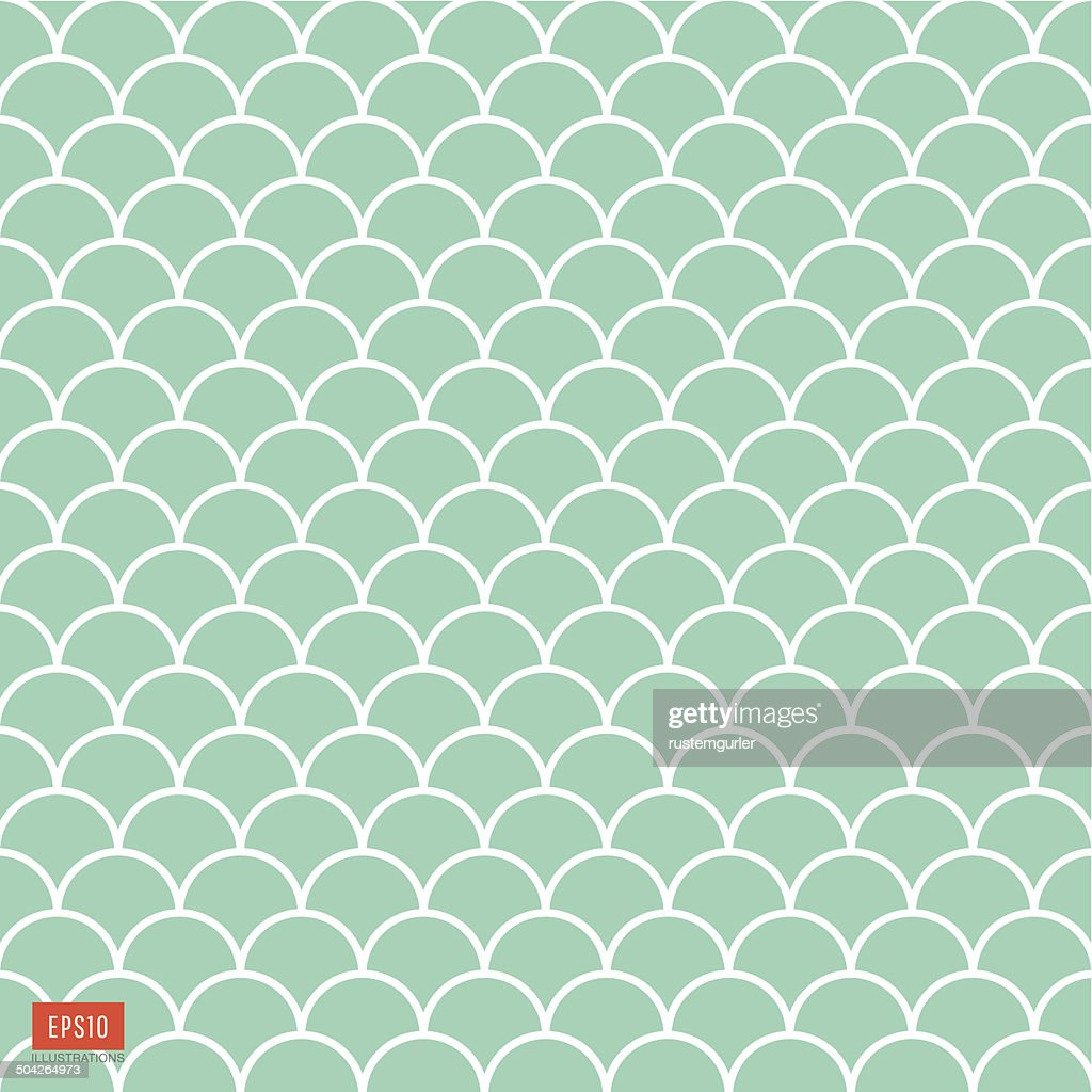 Fish scale pattern : Stock Illustration
