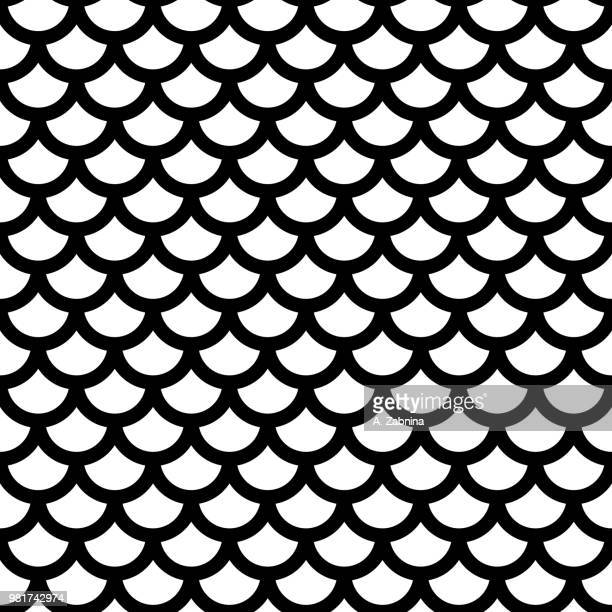 fish scale pattern - animal scale stock illustrations, clip art, cartoons, & icons