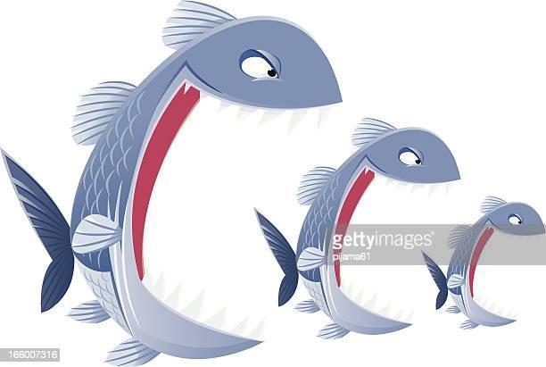 魚 - 食物連鎖点のイラスト素材/クリップアート素材/マンガ素材/アイコン素材