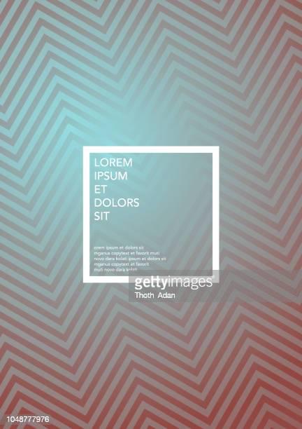 Fishbone Op Art Metallic Farbverlauf – Cover-Design-Vorlage (geometrische Minimalismus Set)