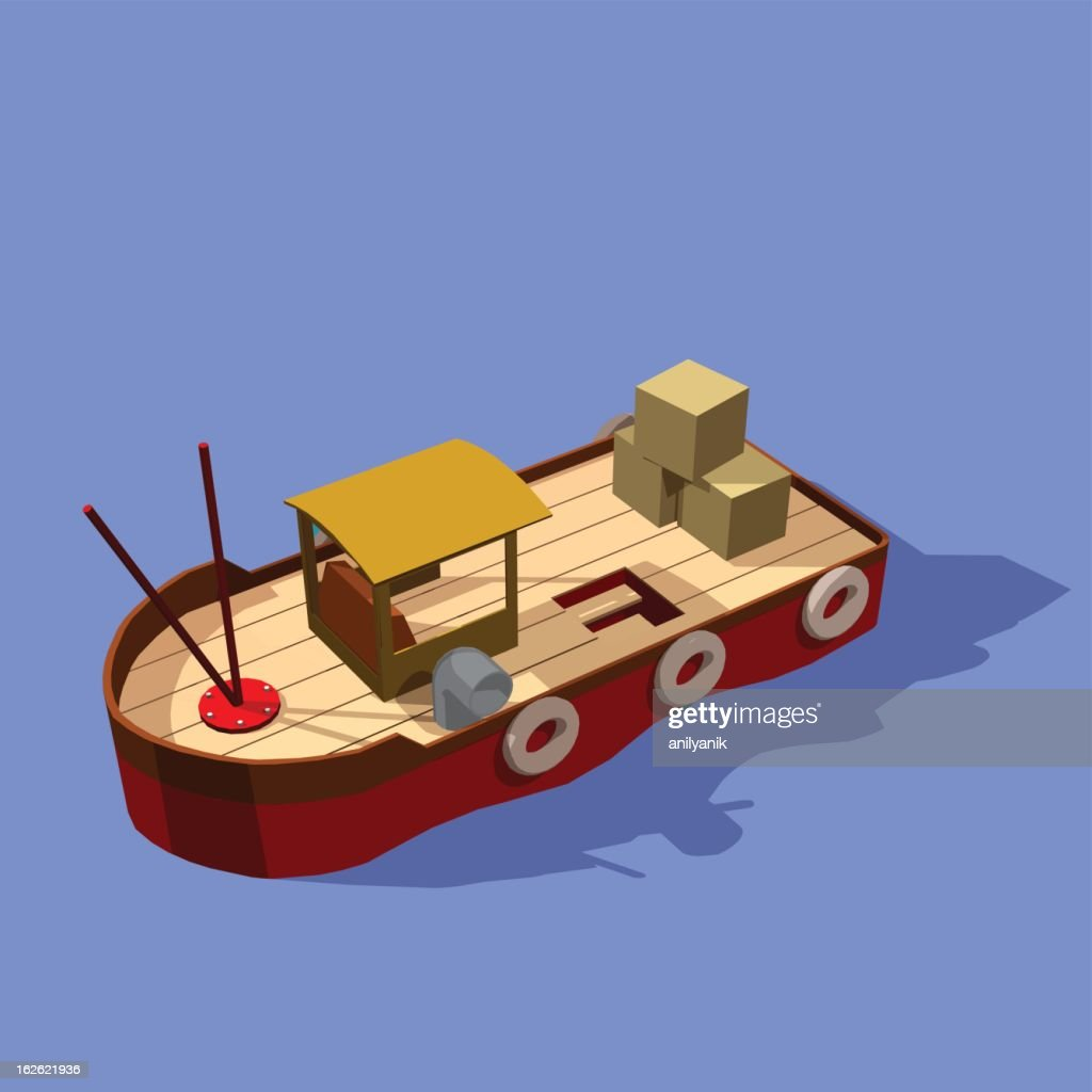 fisher ship : stock illustration