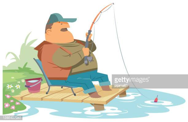 Fishing Pole Catching a Fish Clipart - Clip Art Bay