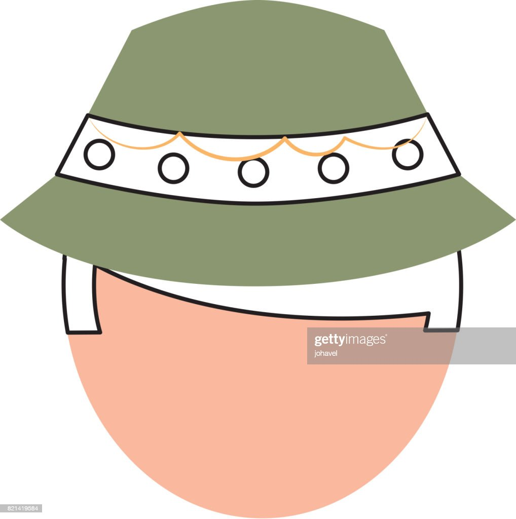 fisherman with hat avatar character