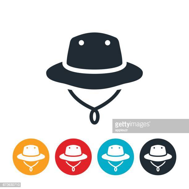 漁師の帽子アイコン - チューリップ帽点のイラスト素材/クリップアート素材/マンガ素材/アイコン素材