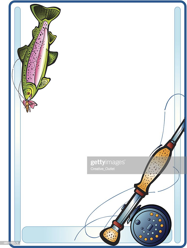 Fishing Frame C Vector Art | Getty Images