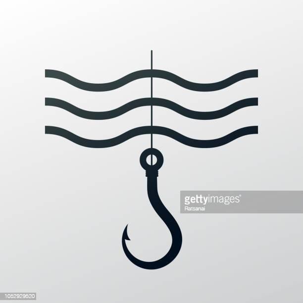 fishing hook - fishing hook stock illustrations
