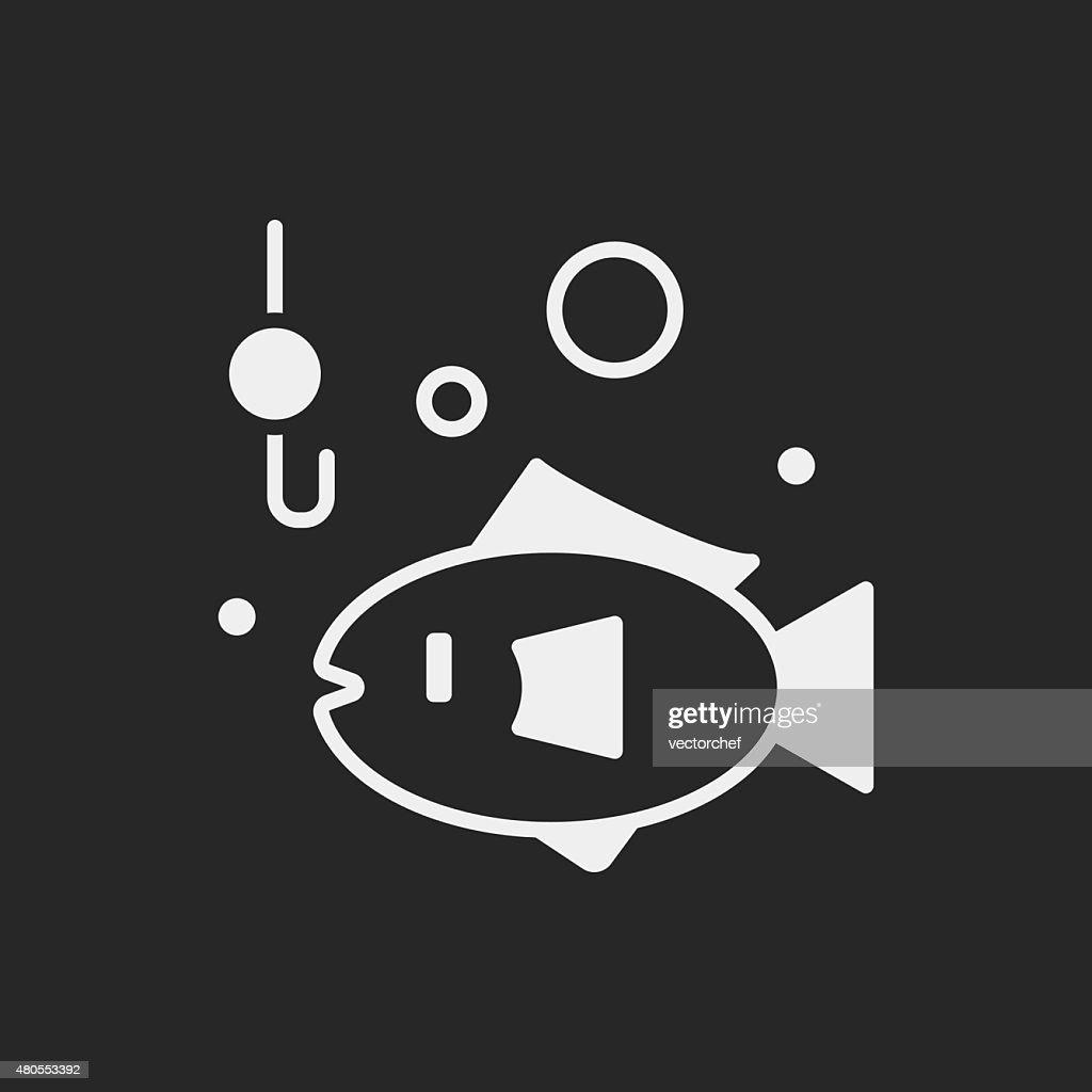 fishing icon : Vector Art