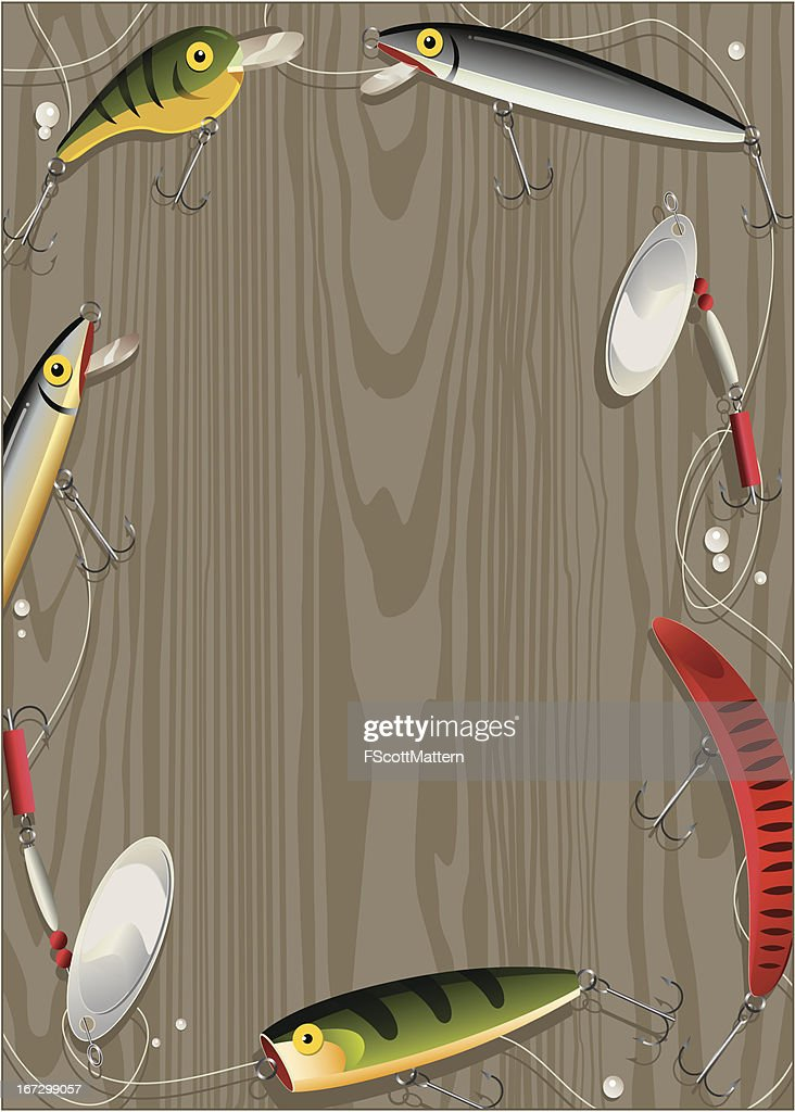 Fishing Lure Border Vector Art | Getty Images