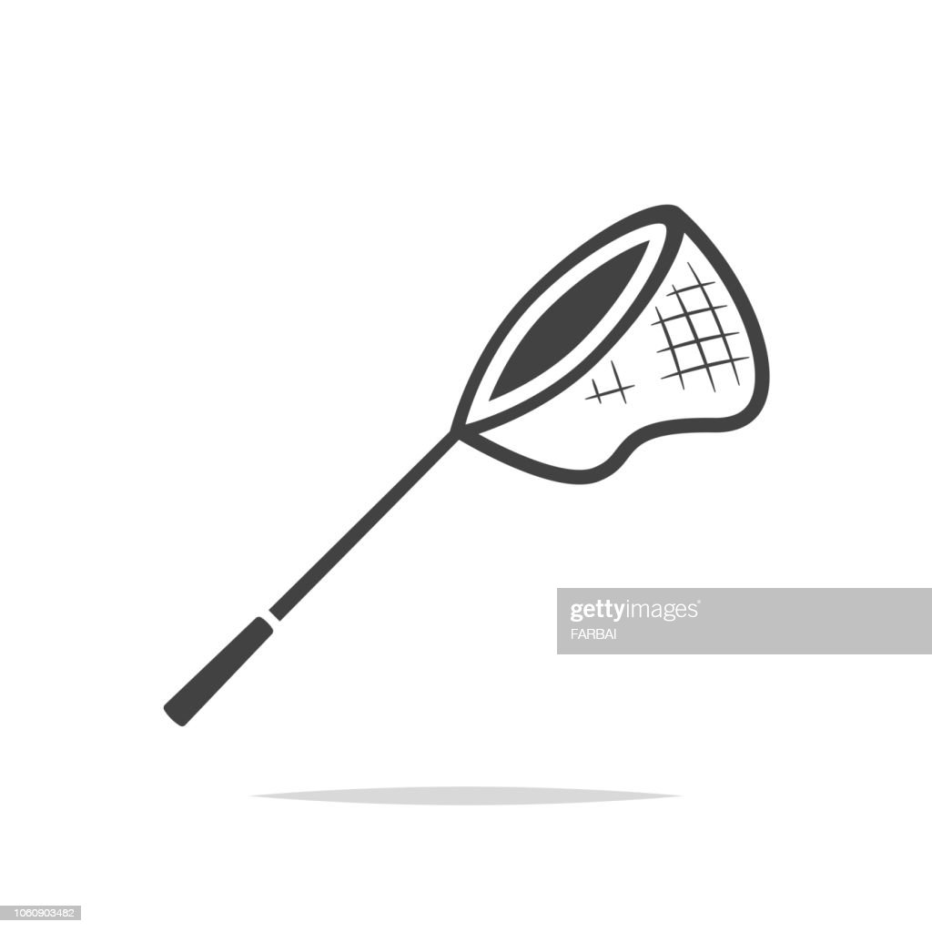 Fishing net icon vector isolated