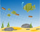 Fishing net seaborne
