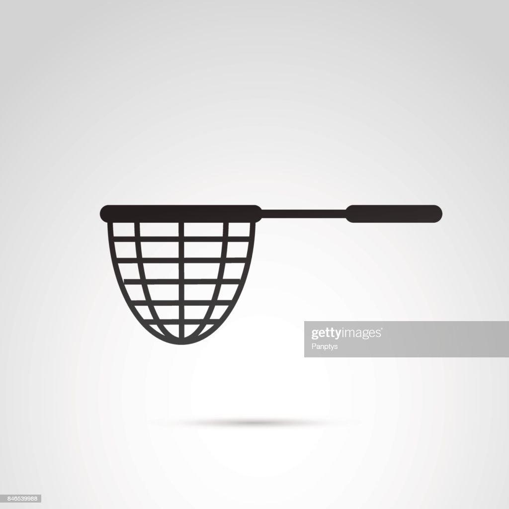 Fishing net vector icon.