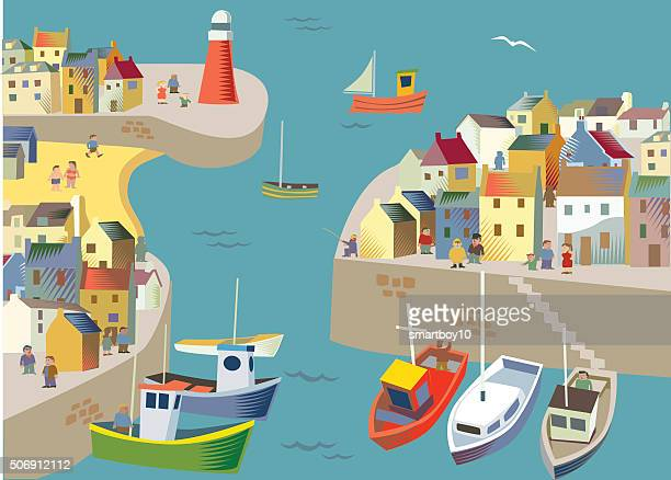 Fishing / Seaside village or town