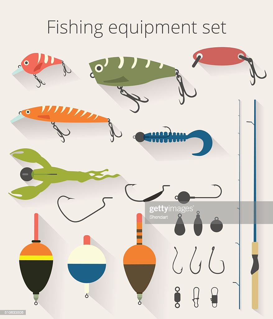 Fishing set accessories for spinning and bait float