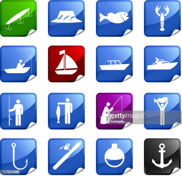 fishing sixteen royalty free icons