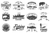 Fishing sport club. Vector illustration