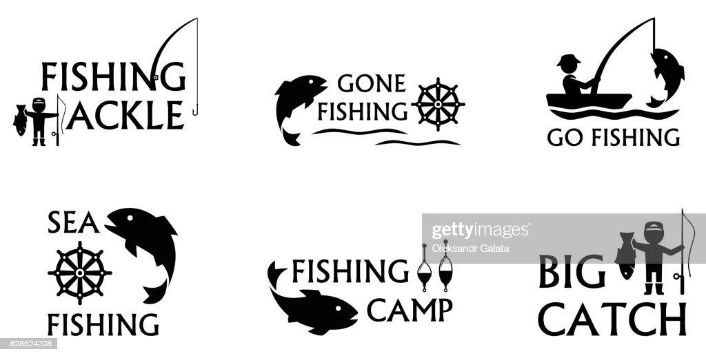 fishing symbols set