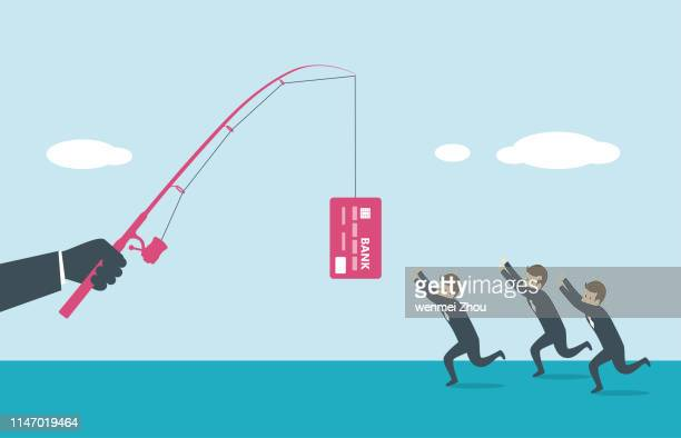fishing - finance and economy stock illustrations