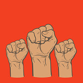Fist as a symbol of good luck, strength and determination