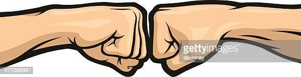 fist bump - fist stock illustrations
