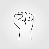 Fist hand up vector